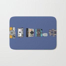 Camera Collection (Blue) Bath Mat