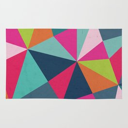 Geometric Triangle Pattern  - Spring Color Palette - Rug