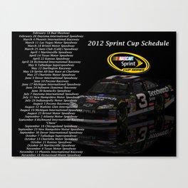 2012 Sprint Cup Schedule Canvas Print