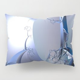 Abstract trees in icy moonlight illusion Pillow Sham