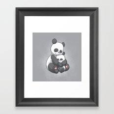 Panda Hug Framed Art Print