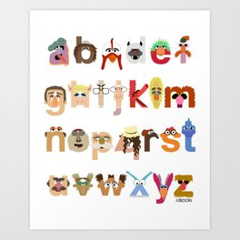 The Great Muppet Alphabet (the sequel) Art Print
