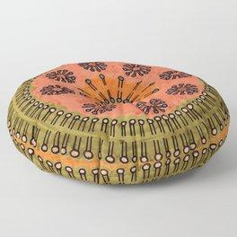 Vesicle Mandala 02 Floor Pillow