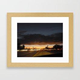 Commute Home Framed Art Print