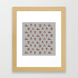 A round of Robins for Christmas Framed Art Print