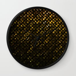 Crystal Bling Strass Gold G321 Wall Clock