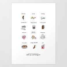 Foods of the Bluths Art Print