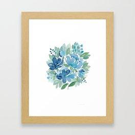 Little Bouquet Blue Framed Art Print