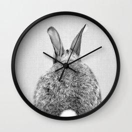Rabbit Tail - Black & White Wall Clock