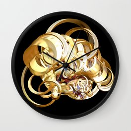 Fractal Christmas Ribbon Wall Clock