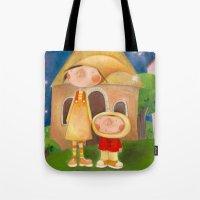 mom Tote Bags featuring Mom by Gabriela Granados