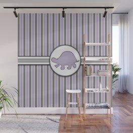 Purple Turtle Stripes Pattern Design Wall Mural