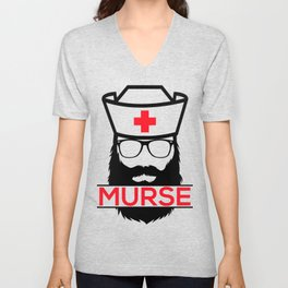 Murse Male Nurse Hospital Health Care Unisex V-Neck