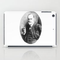 freud iPad Cases featuring Sigmund Freud (Pen Pointillism) by Daniel Point