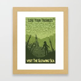 Lose Your Troubles in the Glowing Sea Framed Art Print