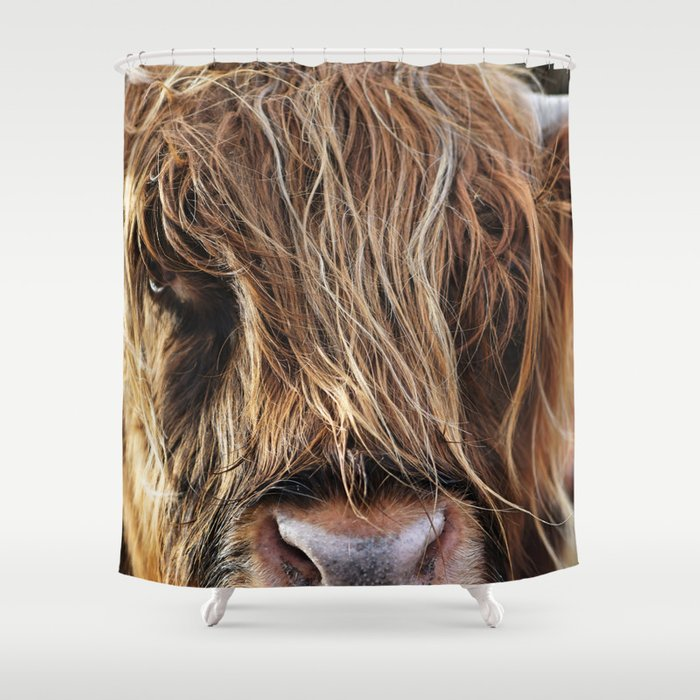 Highland Cow Print II Shower Curtain