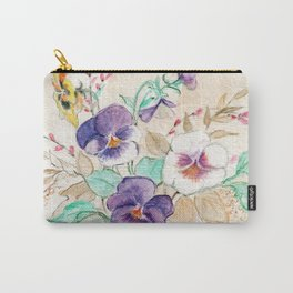 Pansies Bouquet Carry-All Pouch