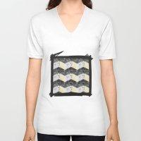 herringbone V-neck T-shirts featuring Herringbone#1 by ArtLoveHope