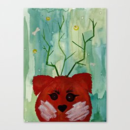 Lucky Dog Green Canvas Print