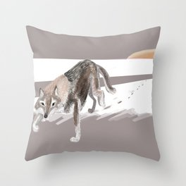 Totem Russian Wolf Throw Pillow