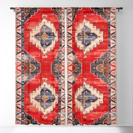 Heritage Traditional Moroccan Style Rug Design Blackout Curtain