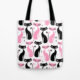 Mod Love Cats Tote Bag