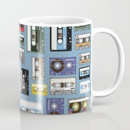 Retro cassette tape pattern 2 Coffee Mug