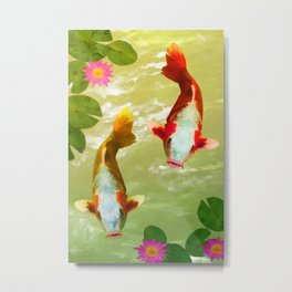 Koi Carp Fish Metal Print