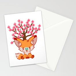 Cutest Gift Idea For Every Passionate Fox Lovers Autumn Fall T-shirt Design Trendy Fox Fan Art Stationery Cards