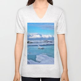 Frozen, and clouds on the Horizon Unisex V-Neck