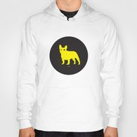 bulldog Hoodies featuring Bulldog by Gonzi