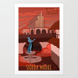 Come Visit Sierra Madre Art Print
