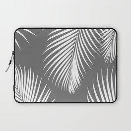 Dark Gray Tropical Pattern Laptop Sleeve