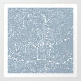 Winston-Salem Map, USA - Slate Art Print