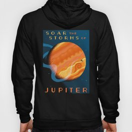 JUPITER Space Tourism Travel Poster Hoody