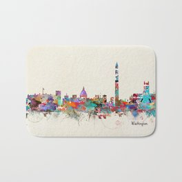 Washington dc skyline Bath Mat