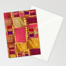 """""""Exotic fabric, ethnic and bohemian style, patches"""" Stationery Cards"""