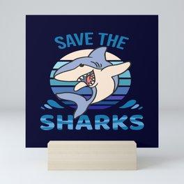 Save The Sharks Mini Art Print
