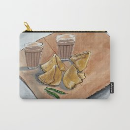 Never hurt a samosa they too had fillings inside by Abha Carry-All Pouch