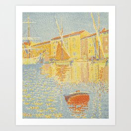 "Paul Signac ""The Buoy (Saint-Tropez, the Harbour) (La bouée (Saint-Tropez, le port))"" Art Print"