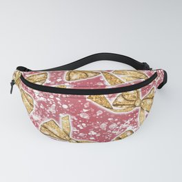 Christmas Bow Pattern Fanny Pack