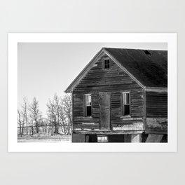 Weathered Prairie Home Art Print