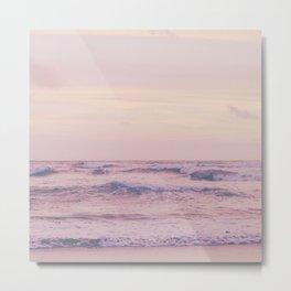Ocean and sky Pink Metal Print