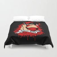 harley quinn Duvet Covers featuring Harley Q by Buby87