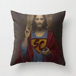 superchrist Throw Pillow