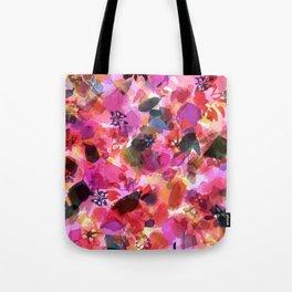 Peach Pink Tulip Floral Tote Bag
