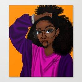 hair up Canvas Print