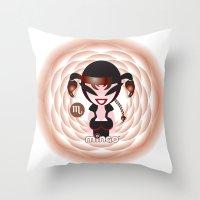 scorpio Throw Pillows featuring Scorpio by HanYong