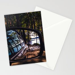 Reflections at Lake Pemaquid Campground in Damariscotta, Maine Stationery Cards
