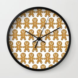 Gingerbread Cookies Pattern Wall Clock